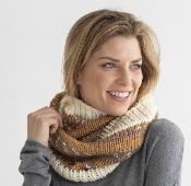 Snood femme en laine tricoter à la main point jacquard