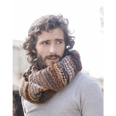Snood homme en laine volumineuse chiné fait main ( Charles ) 620
